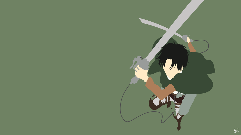 Levi Ackerman Shingeki No Kyojin Minimalism Anime Canvas Aesthetic Anime Anime Background