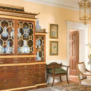 Chippendale-style breakfront | Greystone Estate, Ann Getty | Veranda...