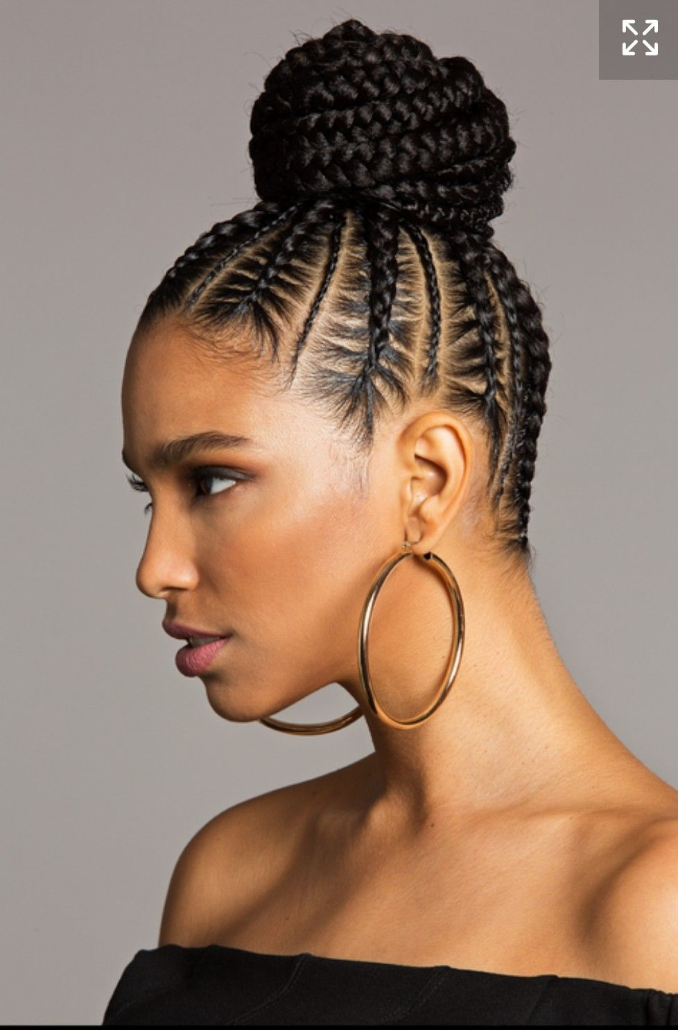 African Braids Hairstyles Extraordinary Braided Bun Ii  African Braids  Pinterest  Cornrow Black Girls