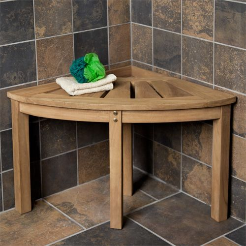 Teak Corner Shower Seat | Teak, Corner shower seat and Shower seat