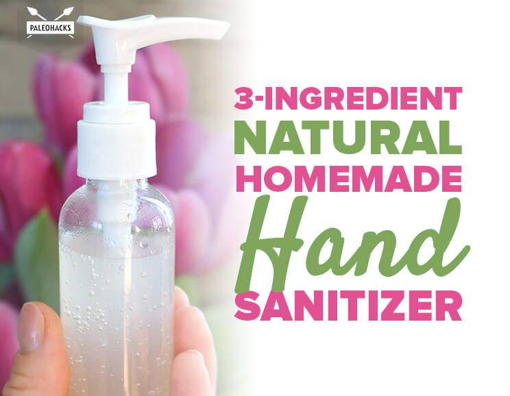 3 Ingredient Natural Homemade Hand Sanitizer Recipe Hand