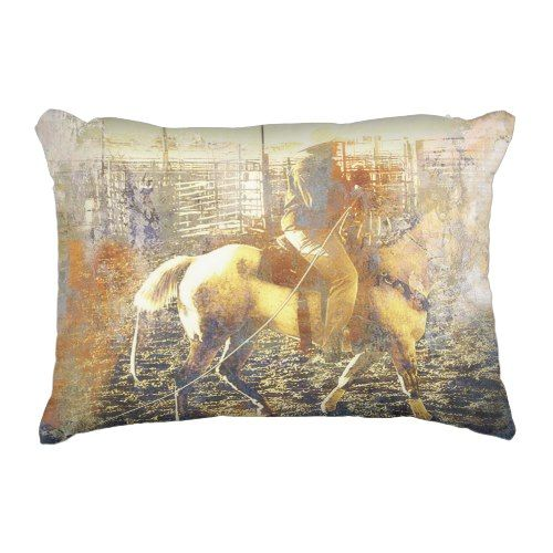 American Rodeo Cowboys Country Western Decorative Pillow Accent Unique Western Decorative Pillows