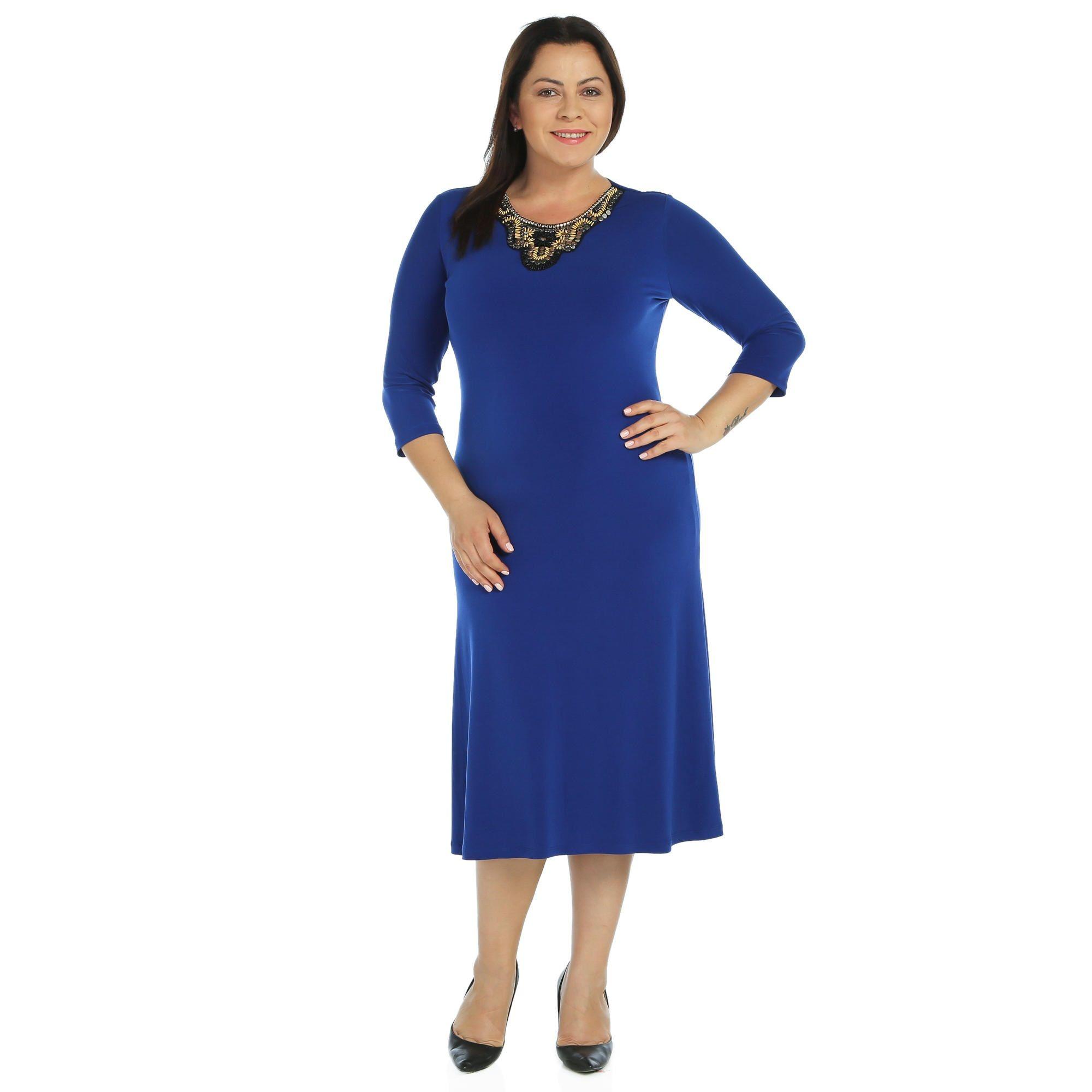 Nidya Moda Buyuk Beden Otantik Yaka Sandy Elbise Kadin Giyim Kiyafet Bigsize Dress Moda Elbise Giyim