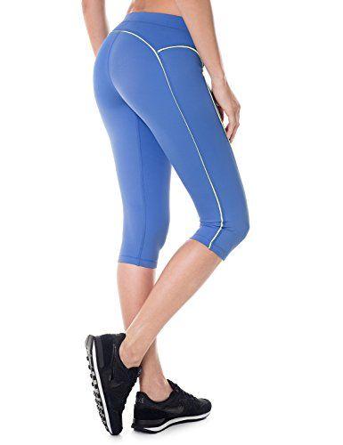 La Isla Femme Leggings de Sport Pantalons Capri Jogging Yoga Collants Bleu  40 (EU 10) 6c2e7697ea5