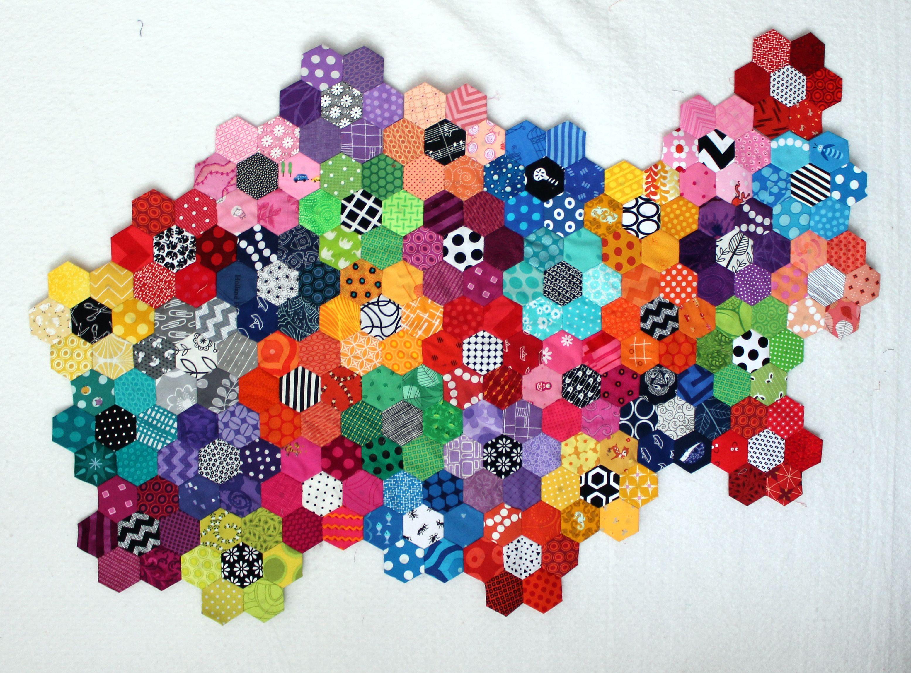 Scrap quilts – WOMBAT QUILTS | Holy Scrap! | Pinterest | Hexagon ... : hexagon quilts patterns - Adamdwight.com