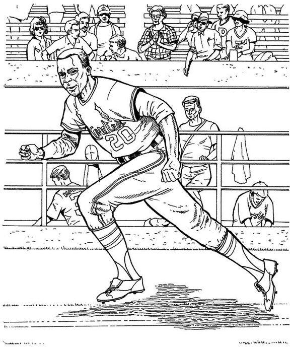 free printable cardnials baseball coloring pages | Cardinals Runner Baseball Coloring Page | Purple Kitty ...