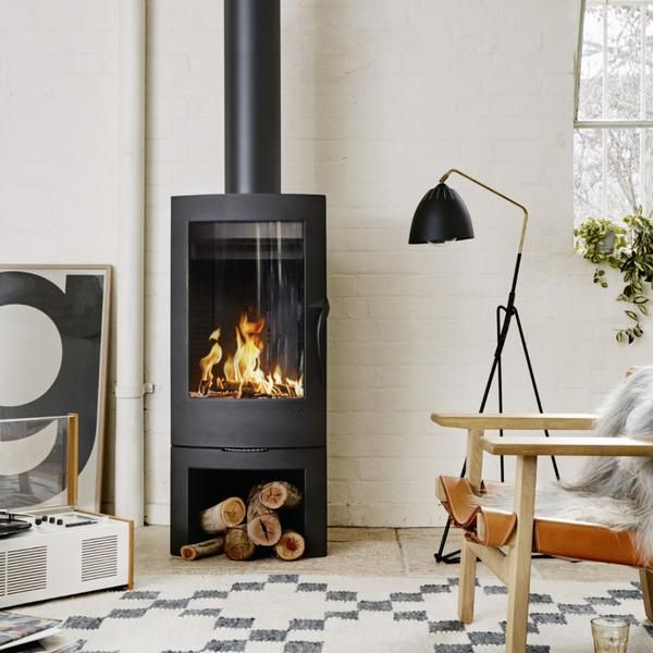 Invicta Argos Wood Heater Standing Fireplace Freestanding Fireplace Modern Fireplace