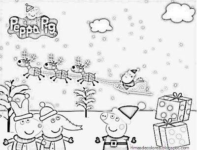 Dibujos De Navidad De Peppa Pig Para Colorear Blog De Los Niños