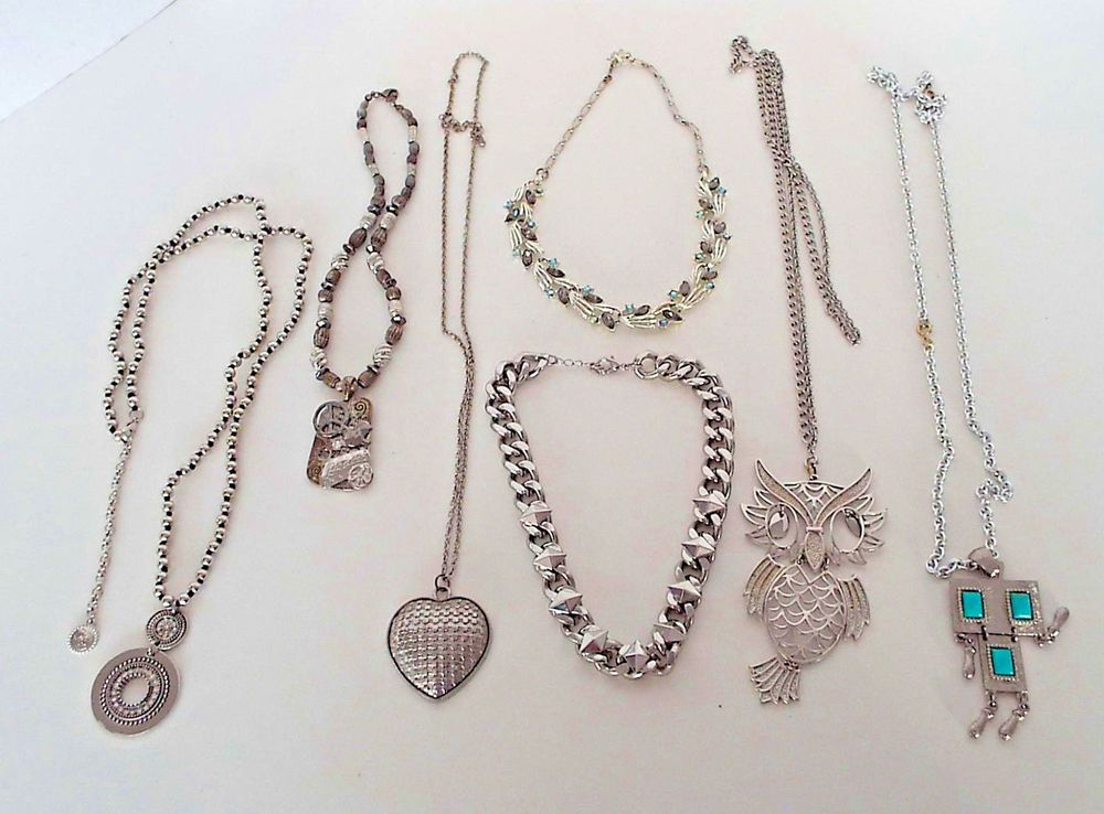 Costume Jewellery Hearty Vintage And Modern Necklace Lot Jewellery & Watches