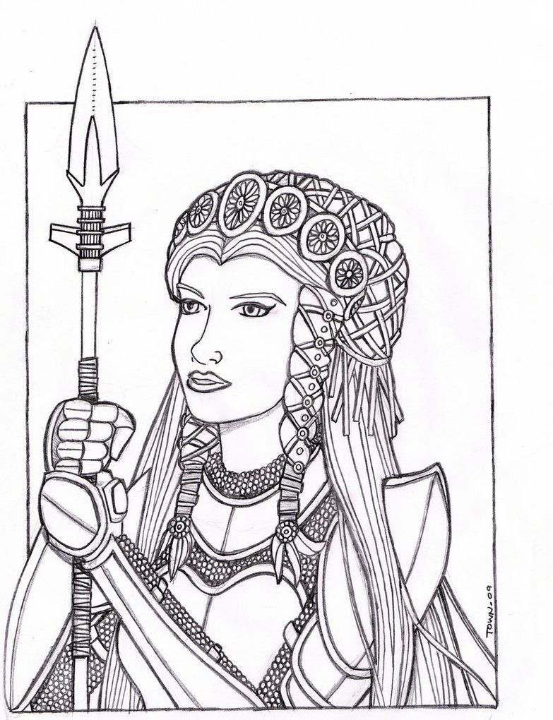 Sketch 1 by plt25 on Deviant Art: Anglo saxon maiden
