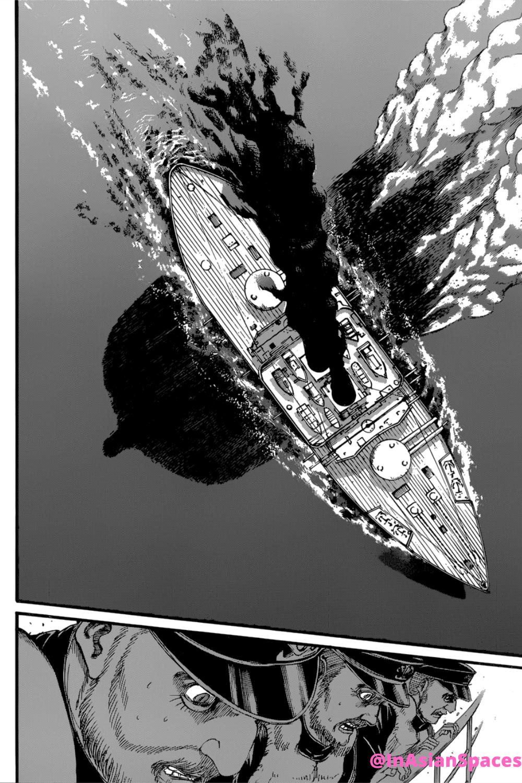 Titan Swims Under United Forces Boats Snk Ch 130 Shingeki No Kyojin Attack On Titan Season Chapter