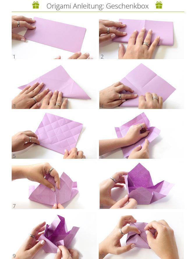 anleitung zum falten einer origami geschenkbox mit foto und videoanleitung danato origami. Black Bedroom Furniture Sets. Home Design Ideas