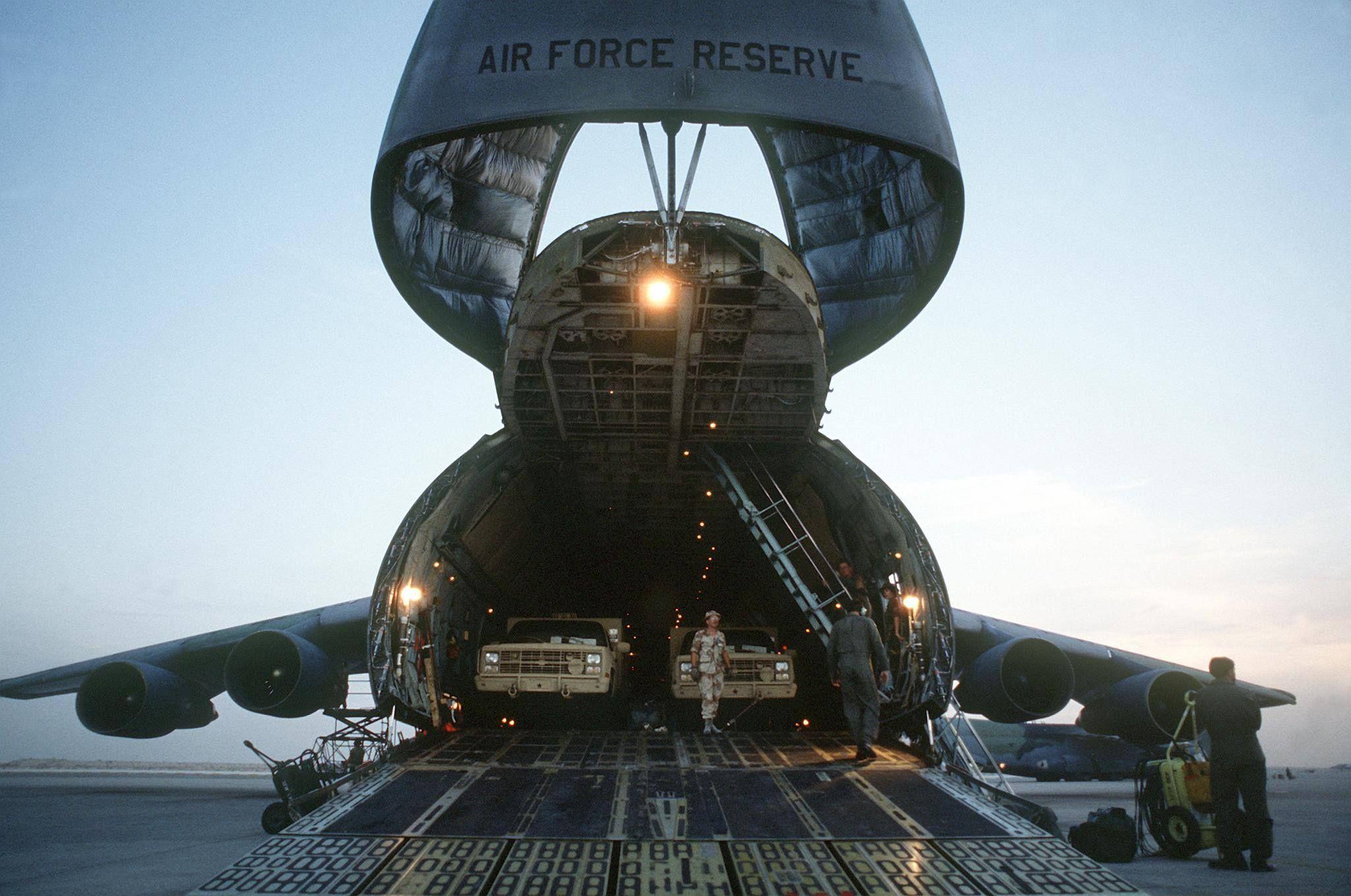 C5 Cargo Floor. US Air Force Photo.