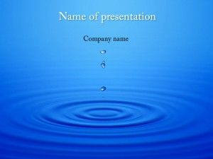 dripping water powerpoint template templates pinterest