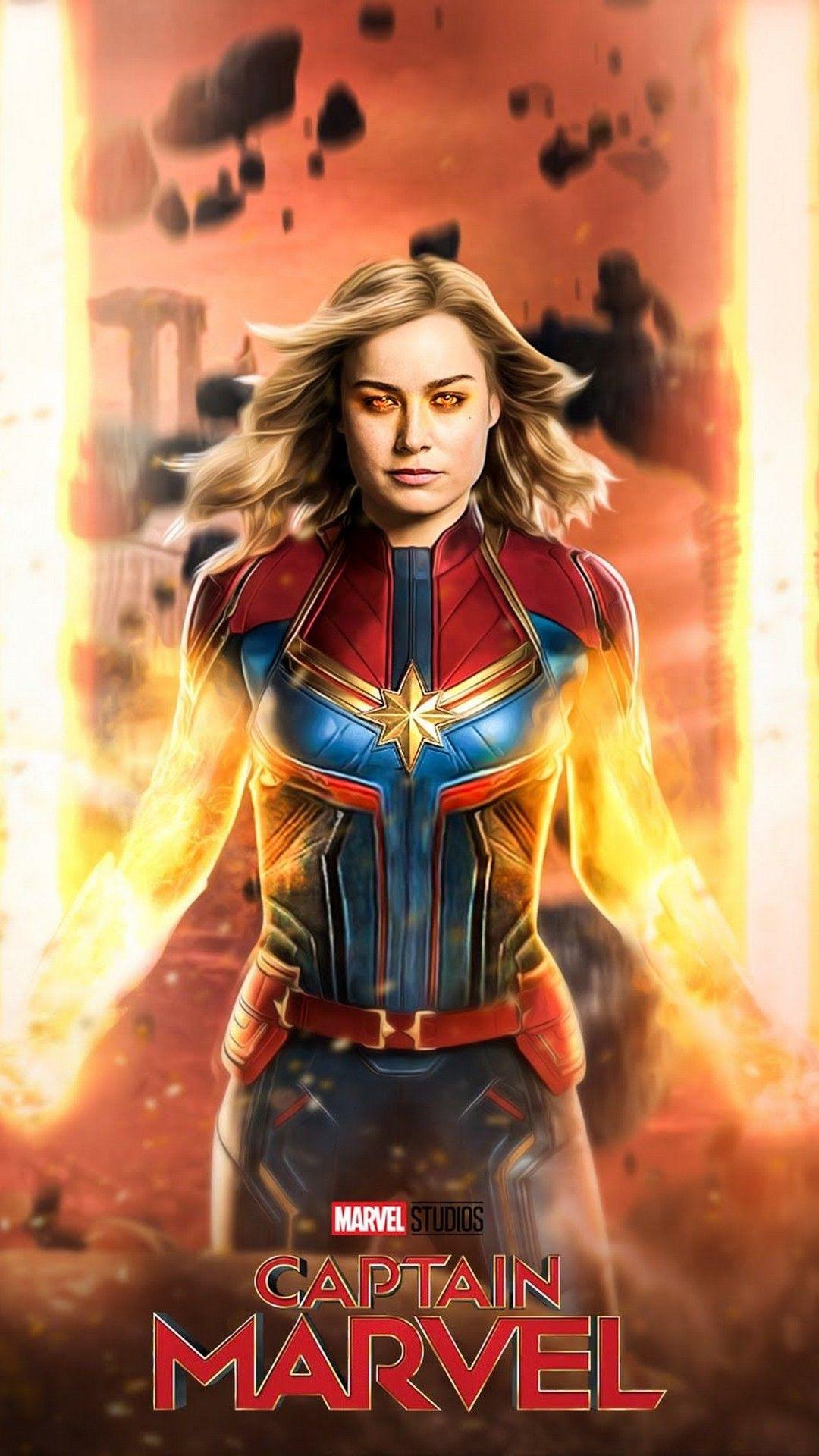 Captain Marvel 2019 Iphone 6 Wallpaper Best Movie Poster Wallpaper Hd Marvel Heroines Captain Marvel Captain Marvel Carol Danvers