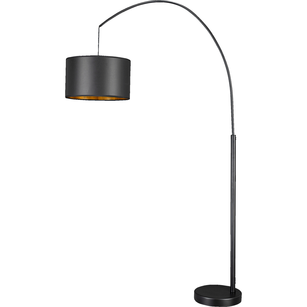 Lampadaire arc extensible en acier noir H19cm - GERONE