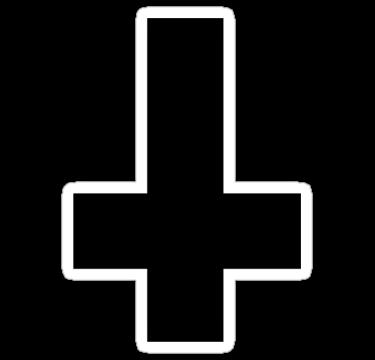 Upside Down Black Cross By Shopmememe Upside Down Cross Cross Black