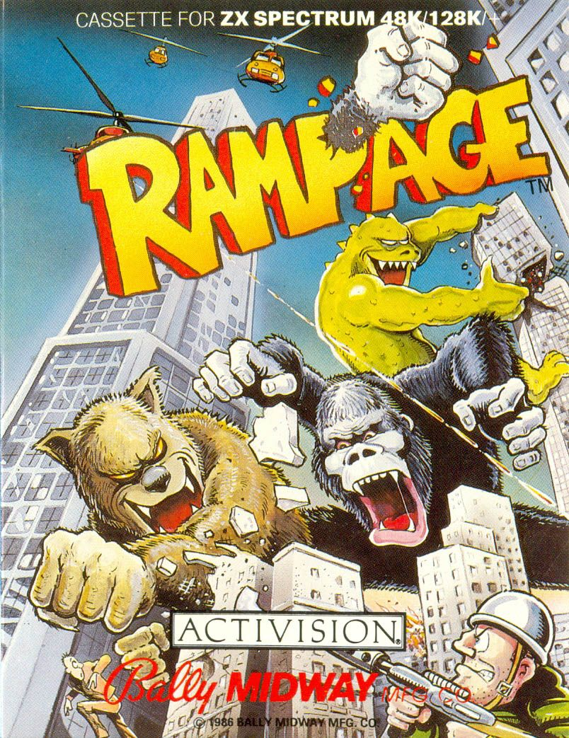 rampage video game logo