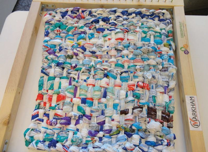 A Milk Bag Mat On A Loom Milk Bag Program Pinterest