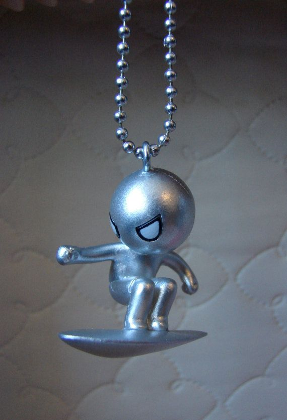 Silver Surfer necklace