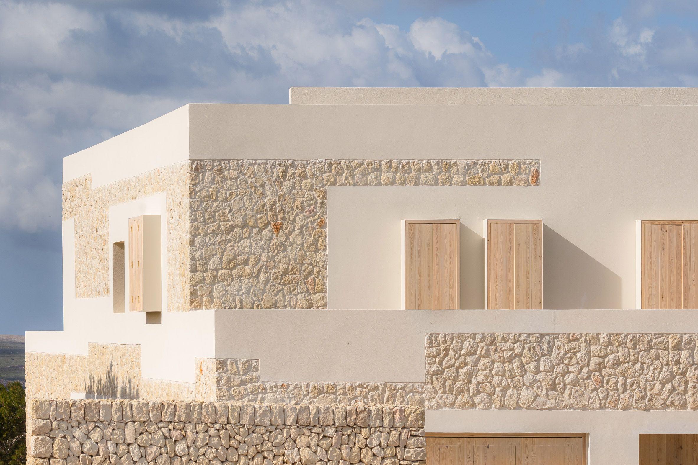 Nomo Studio clads Stone House in Menorca with limestone from its site | Limestone  house, Stone house, Stone facade