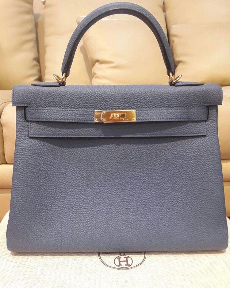 bde233735df1 Hermes Kelly 28 Gris Mouette togo ghw  X   Designerhandbags ...