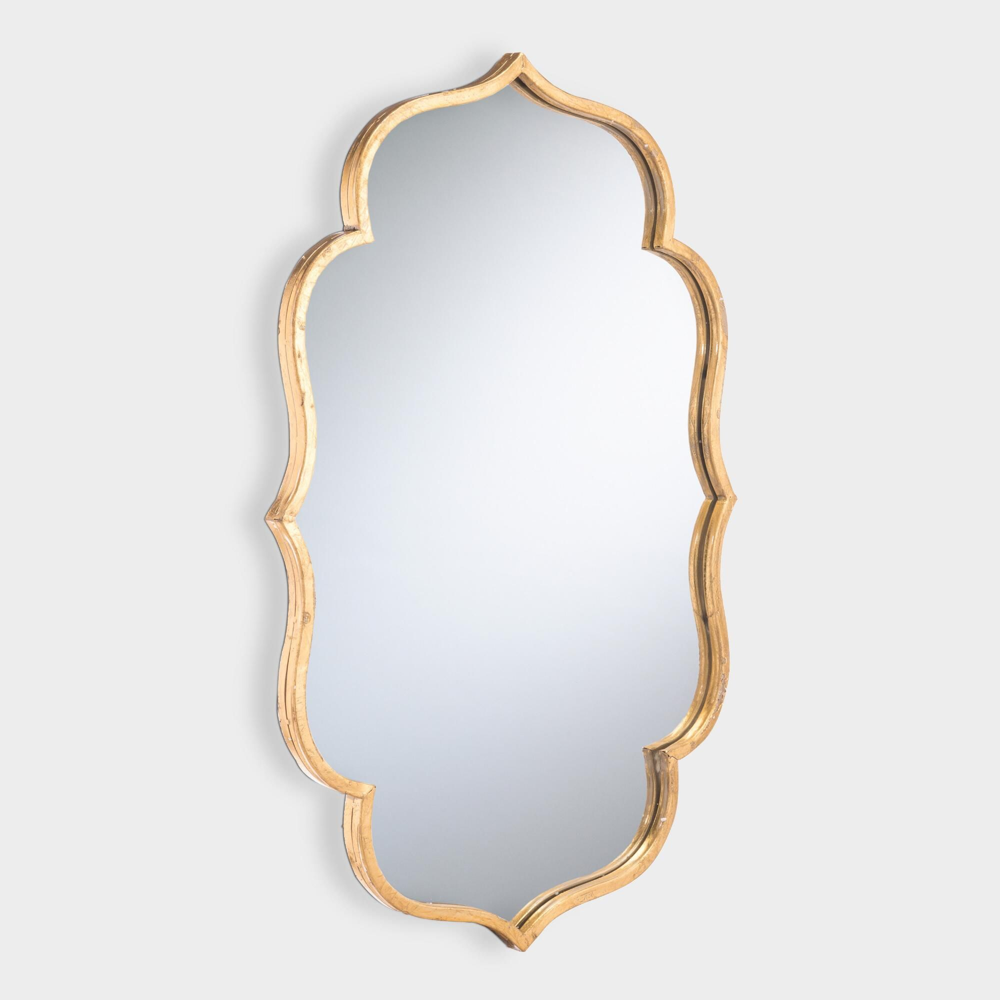 Gold Wavy Accent Mirror by World Market in 2019 | Leaning ...