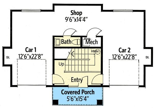 Plan 12528rs Texas Country Guest House Plan Guest House Plans Garage Apartment Floor Plans Carriage House Plans