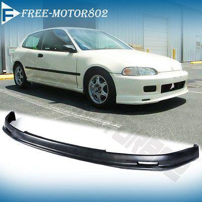 Fit 92-95 Hondа Civic EG Hatchback Coupe Mug Style Front Bumper Lip Spoiler PP