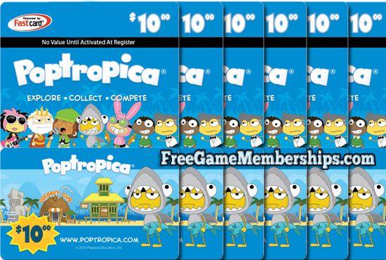 Earn a free Poptropica membership at FreeGameMemberships - free membership cards online
