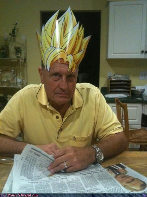 f46274e445 I could try making Ollie s goku wig out of paper or yellow foam ...