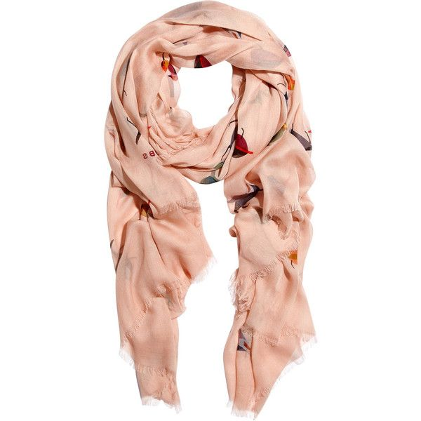 f9dc13a21187 Marc by Marc Jacobs Tossed Bird modal-weave scarf ( 91) ❤ liked on ...