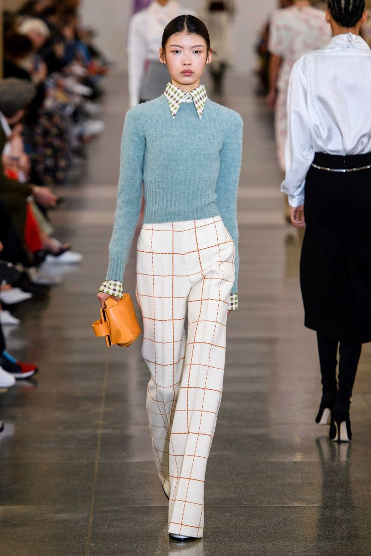 Victoria Beckham Fall Winter 2019 trends Runway coverage Ready To Wear Vogue checkerboard