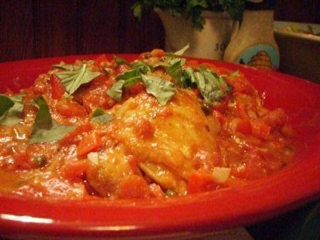 Crock Pot Chicken Cacciatore Recipe - 4 Point Total - LaaLoosh