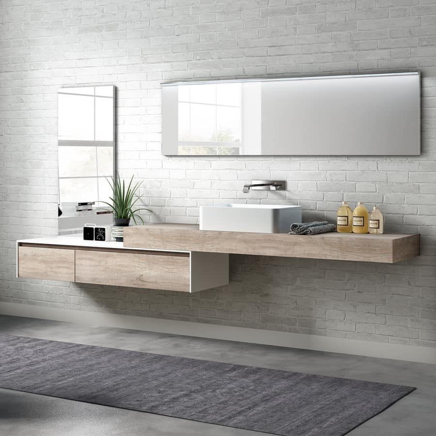 Change comp. 23, Mobile bagno in melaminico con lavabo