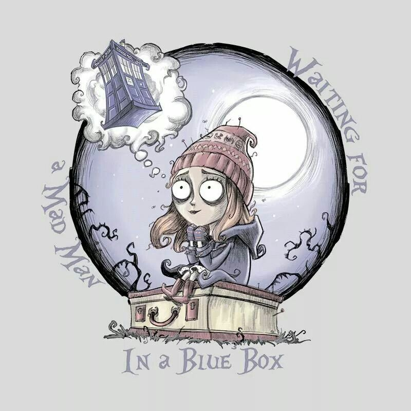 Doctor Who art inspired by Tim Burton!