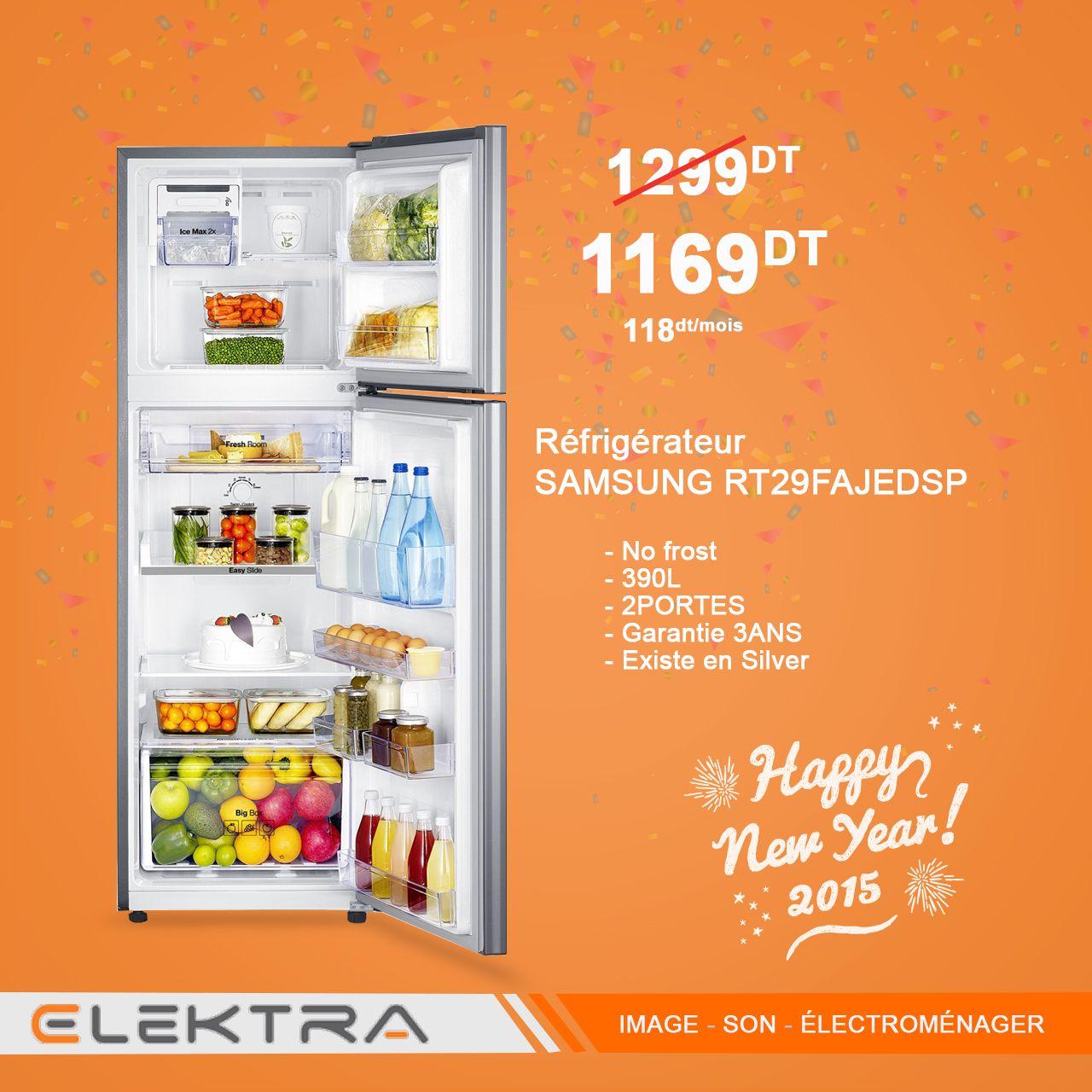 Refrigerateur Samsung Rt29fajedsp 390l 2portes No Frost Silver Refrigerateur Nofrost Elektra Refrigerateur Samsung
