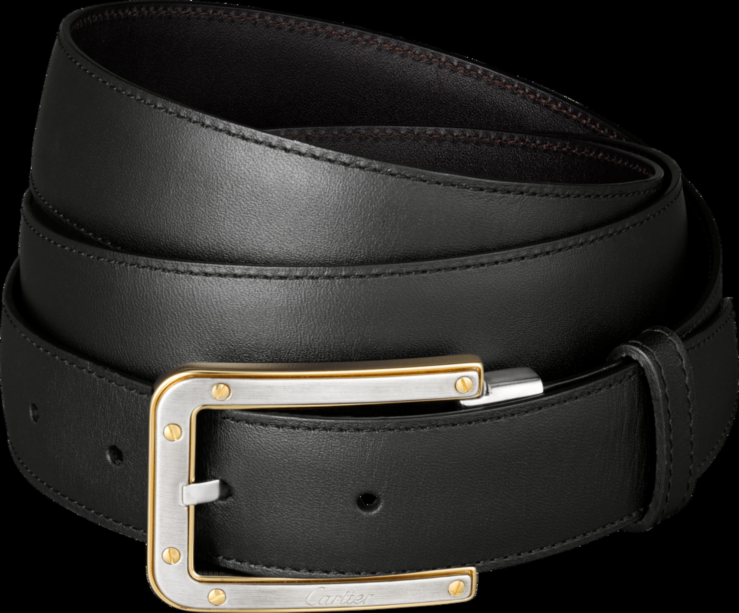 Slim Black Belt With Golden Buckles Png Image Belt Black Belt Black