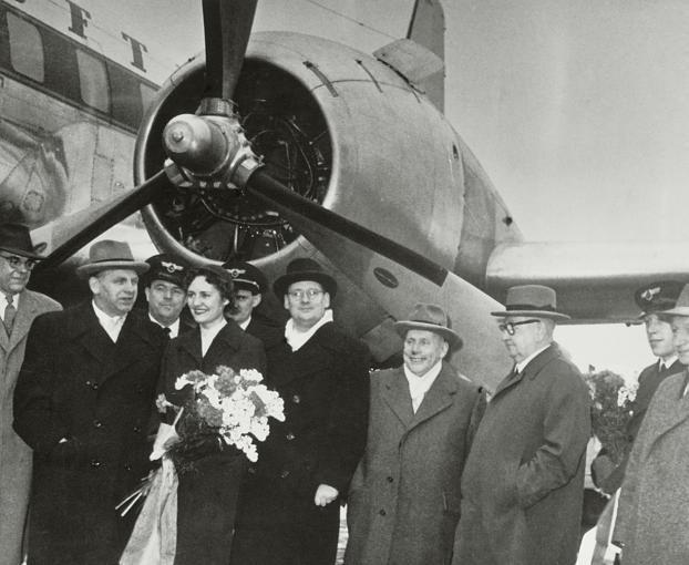 Am 1. April 1955 landete zum ersten Mal eine Lufthansa