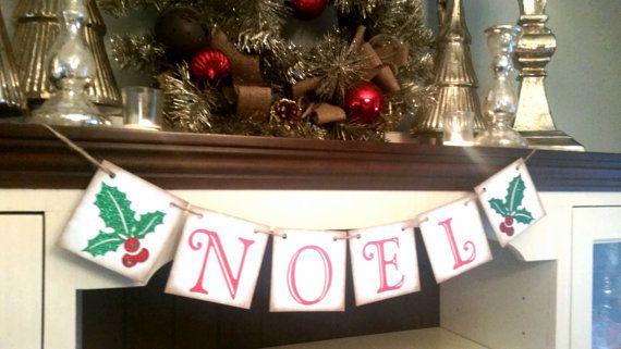 Noel Banner, Noel Sign,  Christmas Decoration, Christmas Decor, Noel Garland, Noel Bunting, Christmas Banner,