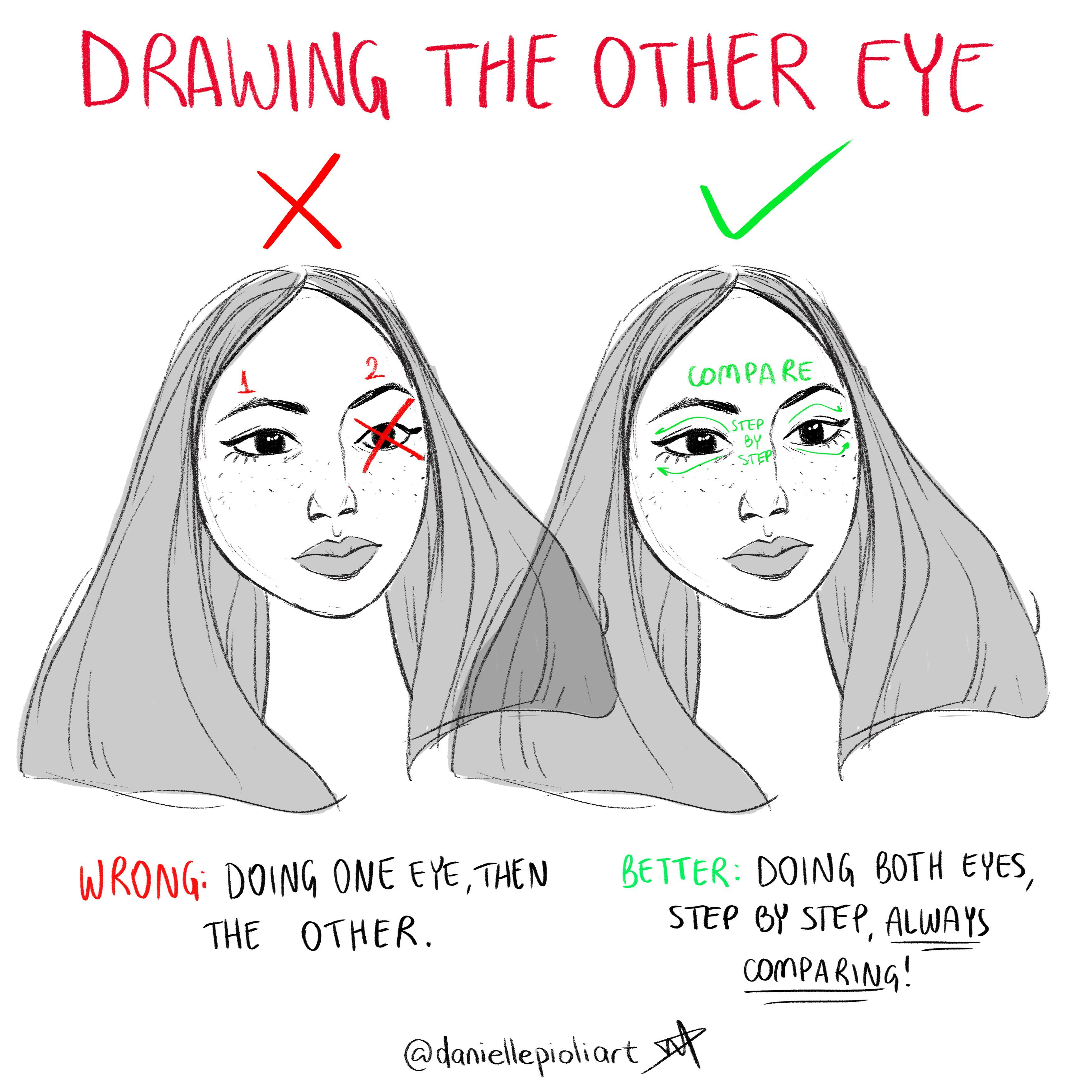 Quick Tip Monday: Drawing The Other Eye!!