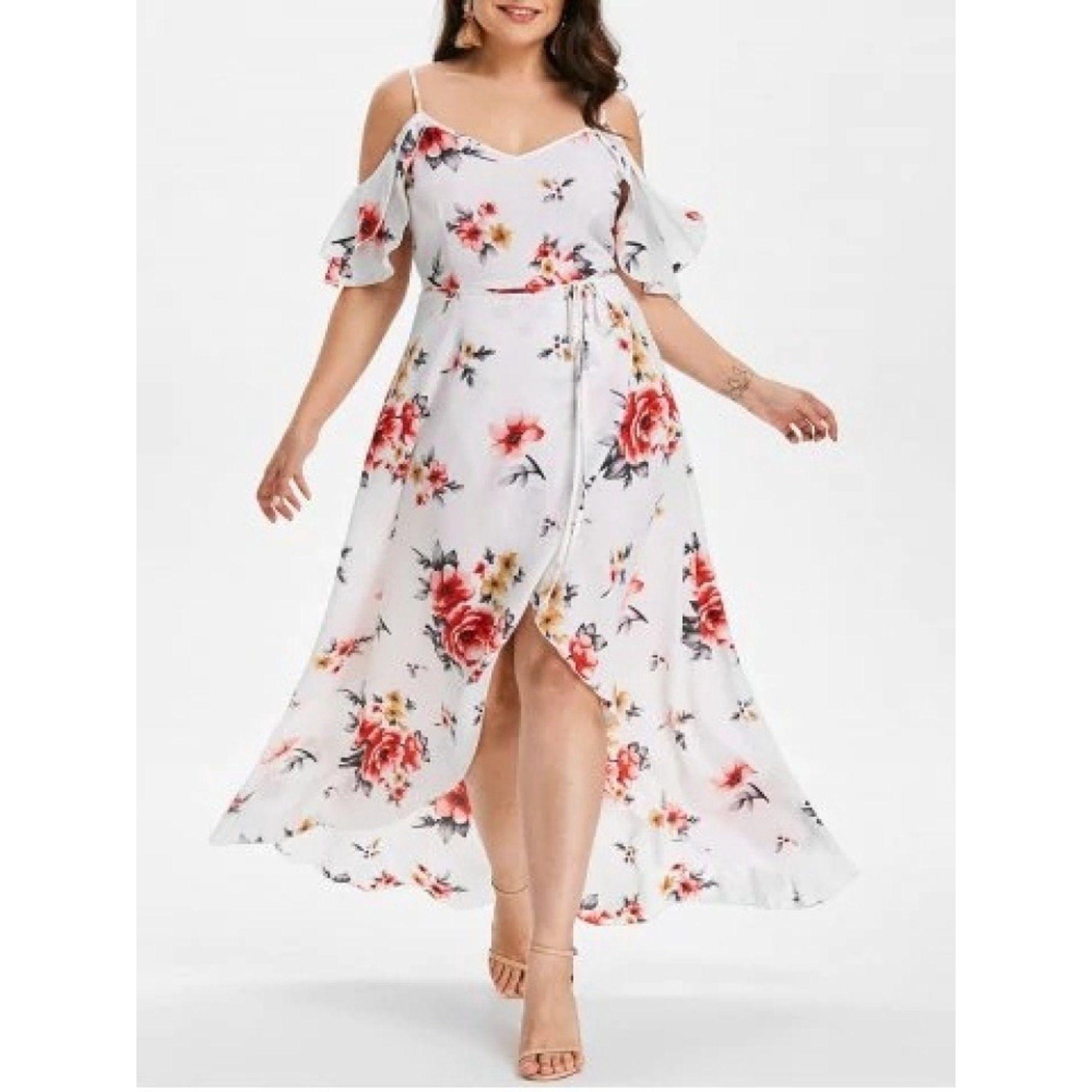 Sysea Plus Size Women Print Spaghetti Strap Chiffon Dress Walmart Com Cold Shoulder Maxi Dress Flower Print Long Dress Plus Size Maxi Dresses [ 2000 x 2000 Pixel ]