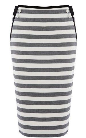 Graphic stripe pencil skirt from Karen Millen.