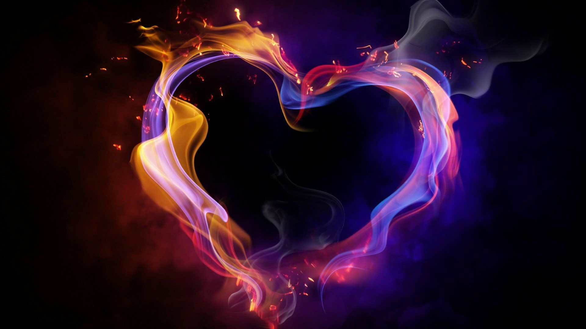 cool heart backgrounds | 1920x1080 hd cool color abstract heart