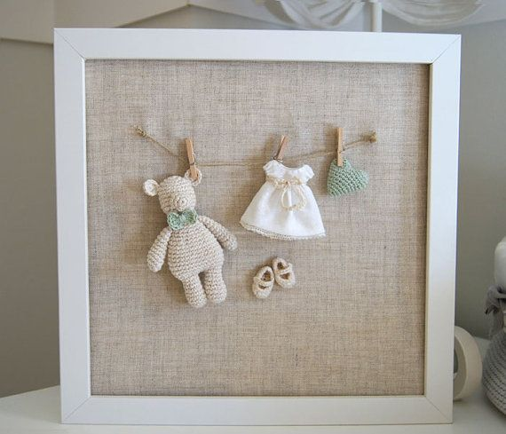 Lovely Picture For The Nursery Or Children Room Combining Cotton