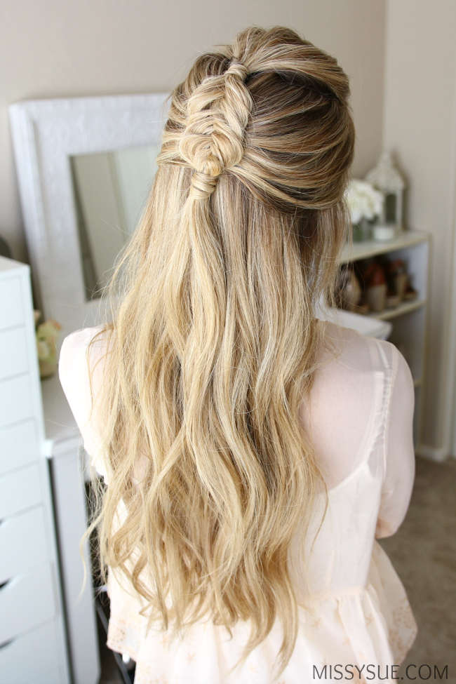 Half Fishtail Braid Hairstyle Tumblr Hair Styles Long Hair Pictures Fish Tail Braid