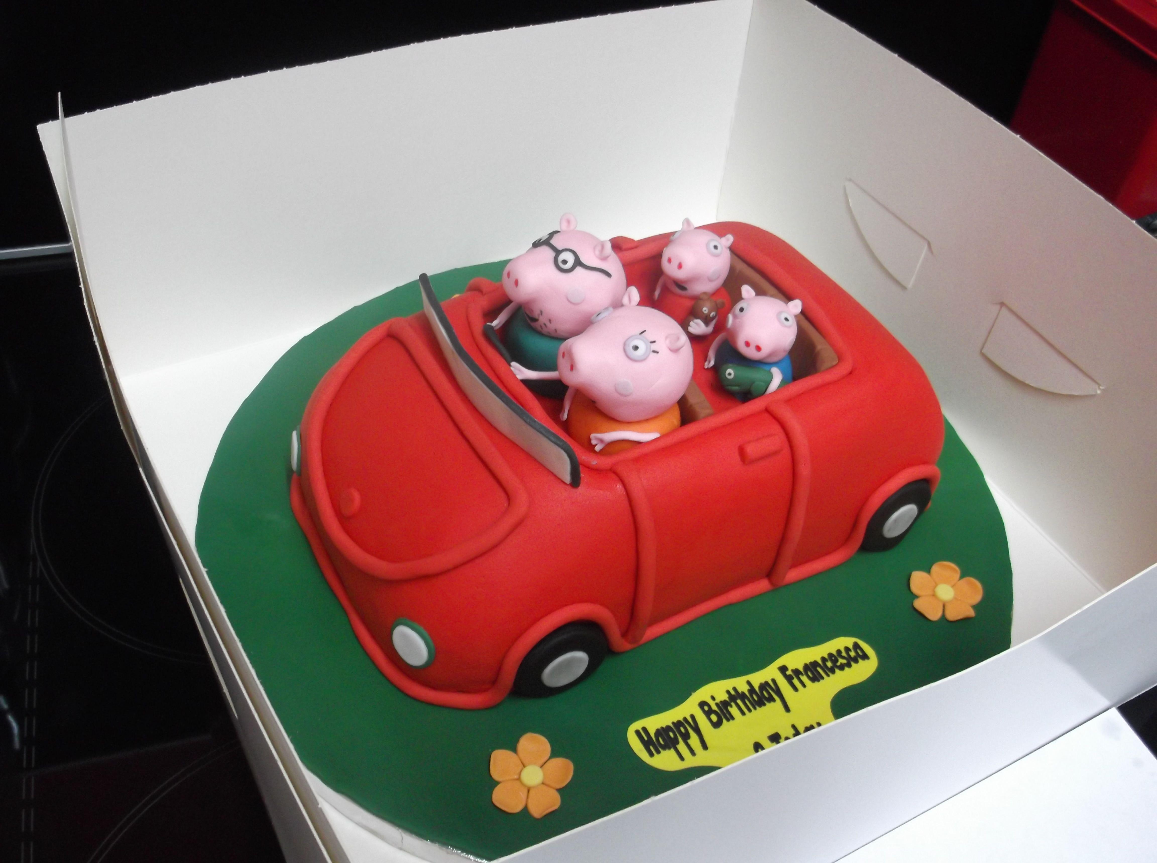 Peppa Pig Car Peppa Pig Car All Edible Figures Made From Fondant
