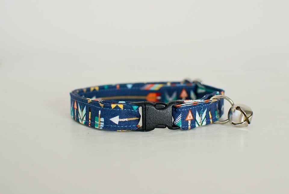 Cat Collar-Breakaway Cat Collar-Arrows Cat Collar-Cat Collar With Arrows-Boy Cat Collar-Girl Cat Collar-Aztec Cat Collar-Fashion Cat Collar by SLWdesignsCo on Etsy