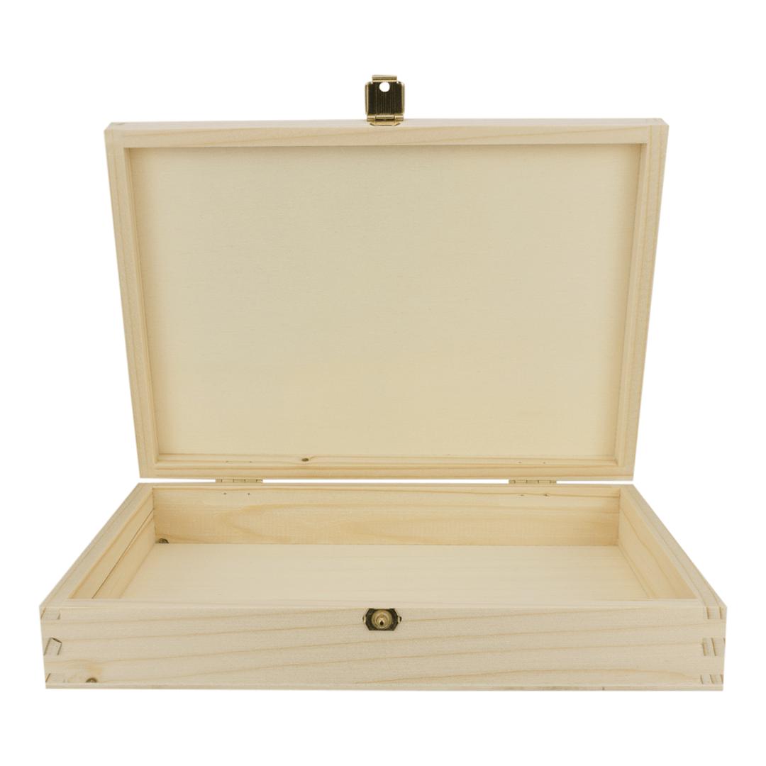Holzschatulle Mit Deckel 13 X 19 Cm Fichte Geschliffen Holzschatulle Schatulle Holz
