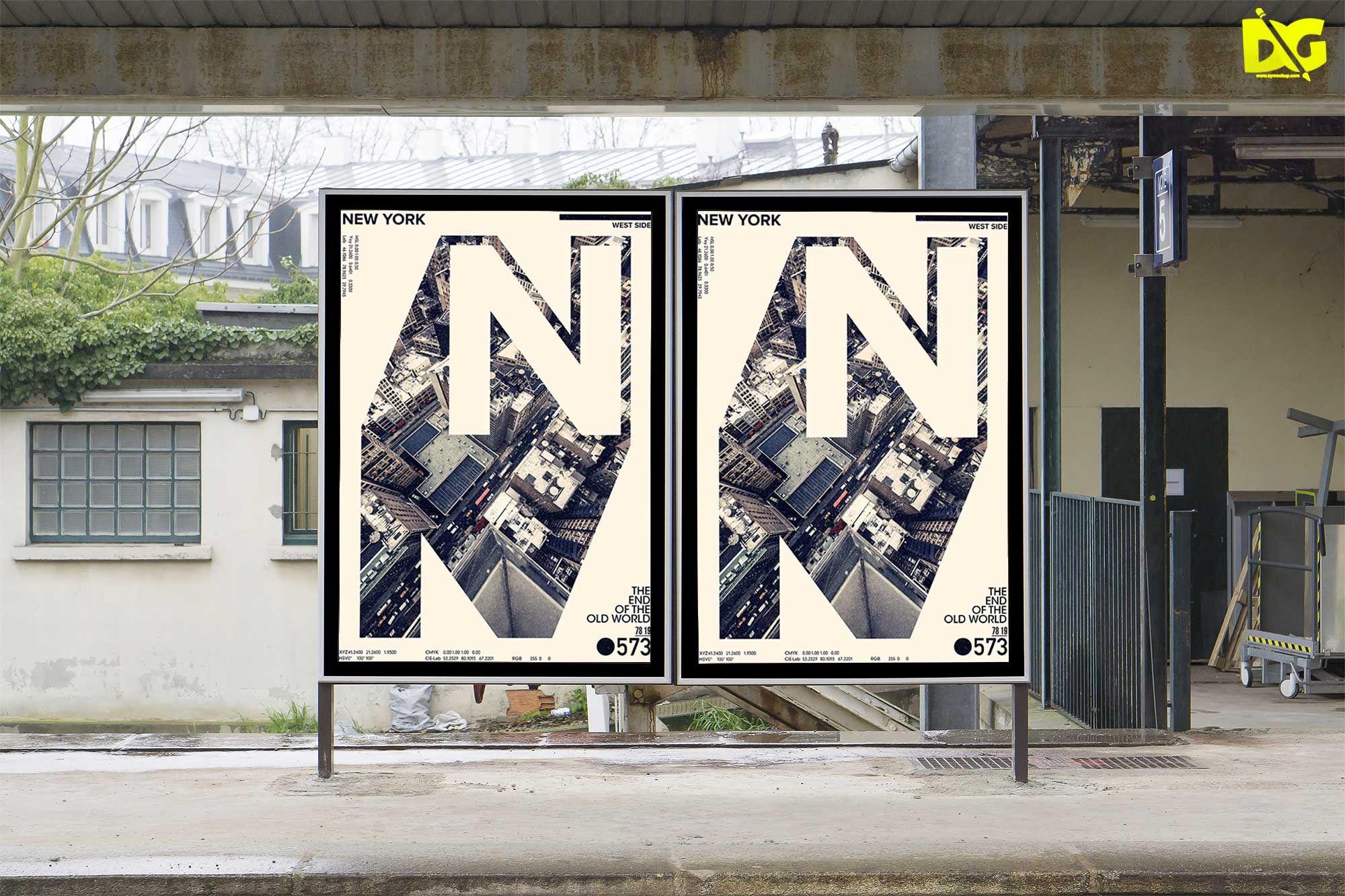 Free Street Poster Mockup Postermockup Streetmockup Streetposter Streetpostermockup Labelmockups Poster Mockup Free Poster Mockup Poster Mockup Psd